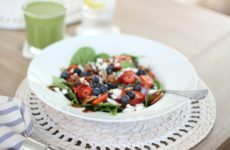 Berry Spinach Salad with Balsamic Dressing