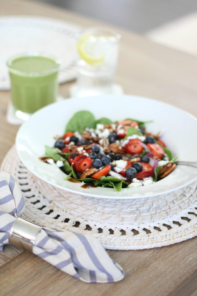 Spinach Salad Berry Salad with Pecans